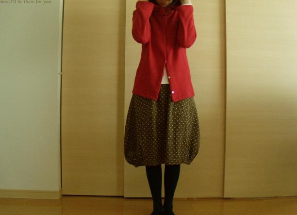 送料無料*ふんわりバルーンスカート(ココア×小花柄)