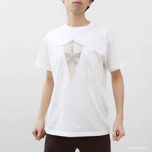 妄想シースルーTシャツ/ MESH WHITE/ M