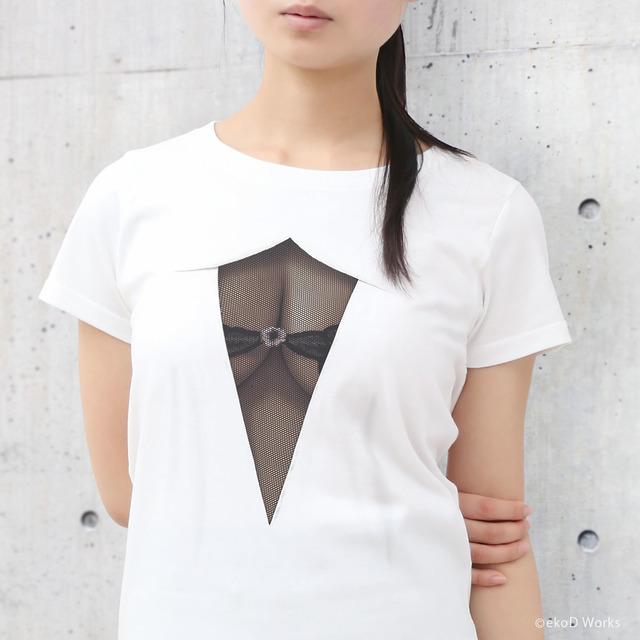 妄想シースルーTシャツ/ MESH BLACK/ WM