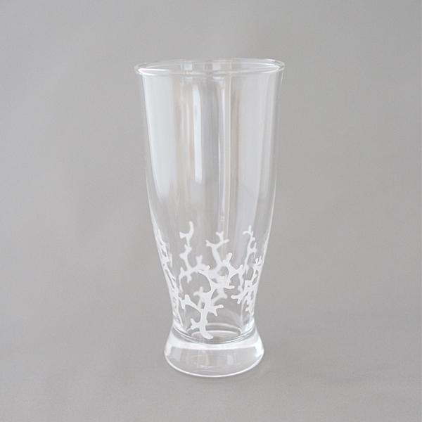 サンゴのガラスタンブラー
