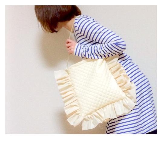 pillow【キルティングバッグ】ホワイト