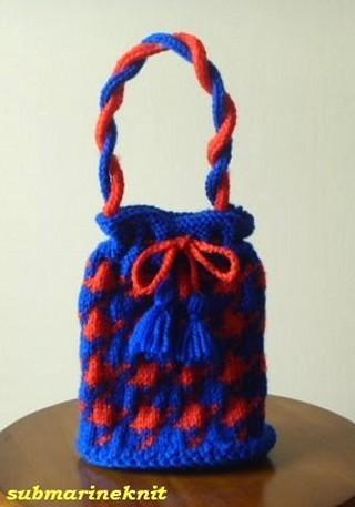 手編みプチバッグ