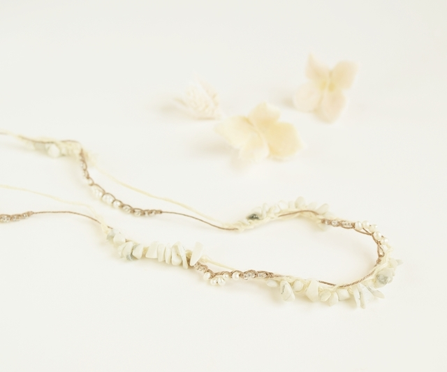 【金属フリー】2WAY ホワイトカラーのネックレス
