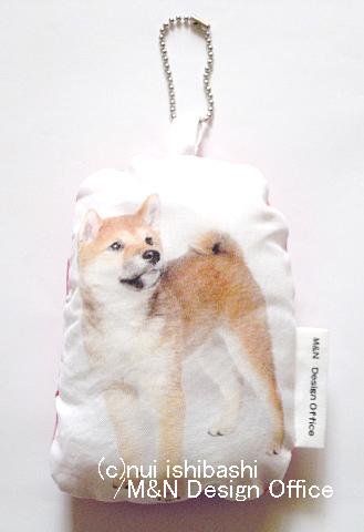 柴犬(写真)のふわふわキーホルダー(...