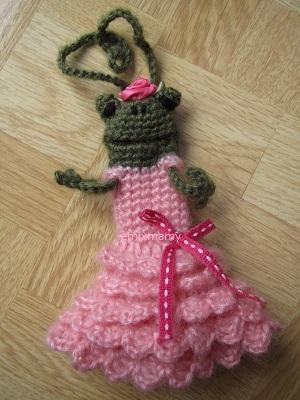 【SALE】あみぐるみ!ケロリップカバー・スパイラルドレスのケロリーヌさん♪【ピンク】