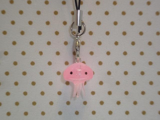 くらげちゃんストラップ ピンク №c39 クラゲ
