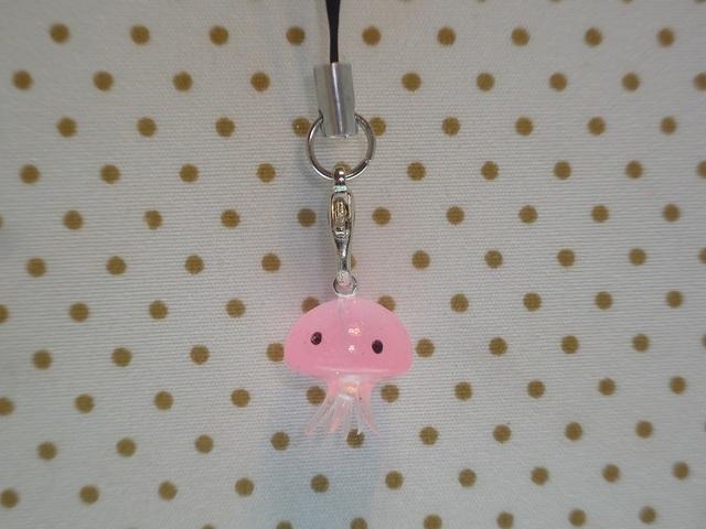 くらげちゃんストラップ ピンク №c41 クラゲ