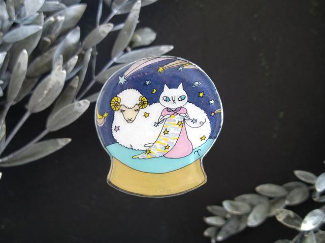 gazet星座ブローチ(おひつじ座)1