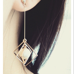 ~square×cotton pearl~pierce