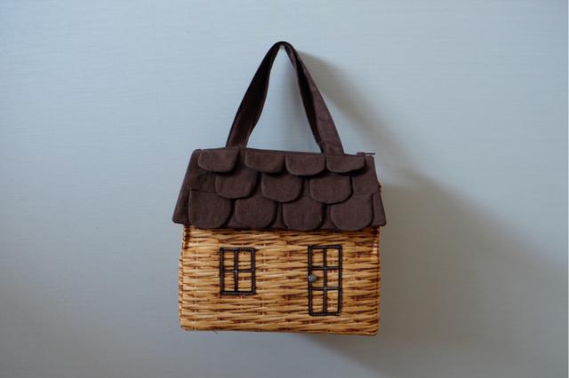 OUCHI box bag M ?ダークブラウン+バスケット