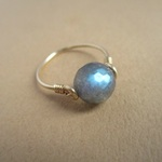 再販:blue flash ring 14Kgf