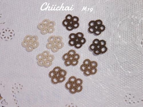 タティングレース小花のモチーフ(6-M19)