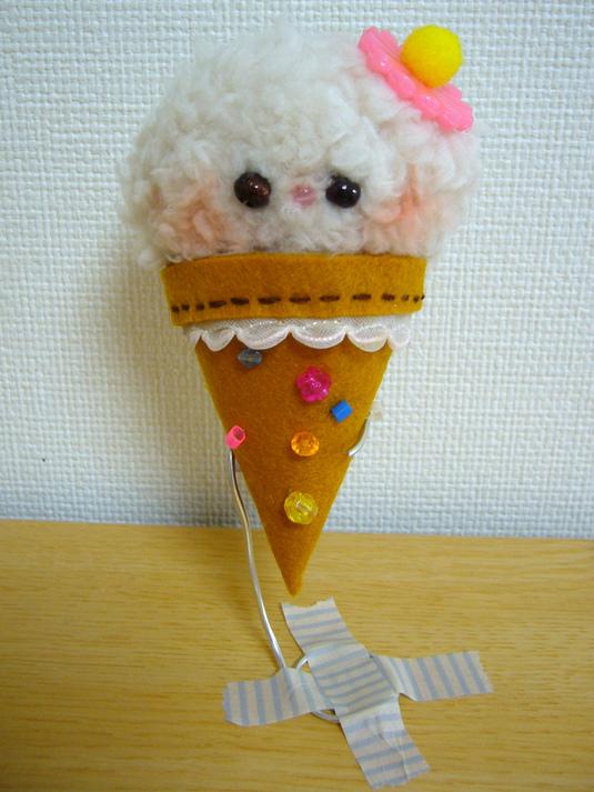 アイスの赤ちゃん(おっきいお花)