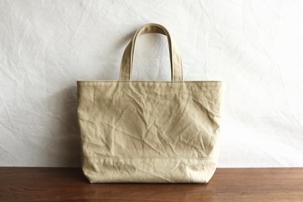 ベージュ 浜松産帆布使用トートM