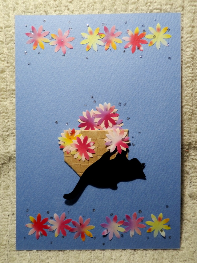 花かごと猫ーねこキック