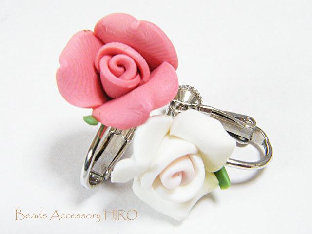 イヤリング☆2色の薔薇