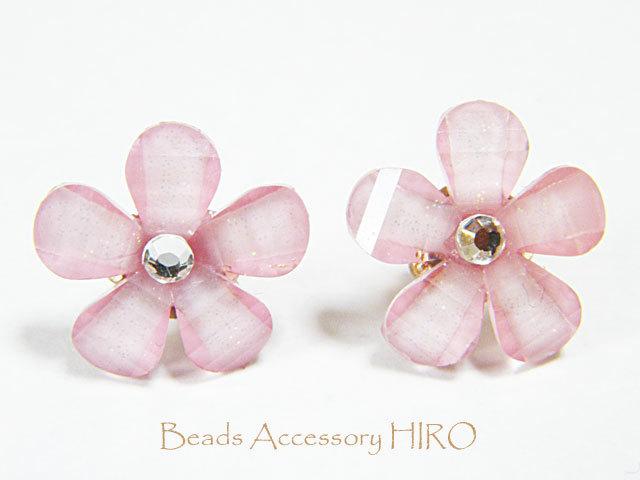 ピアス☆ピンクのお花