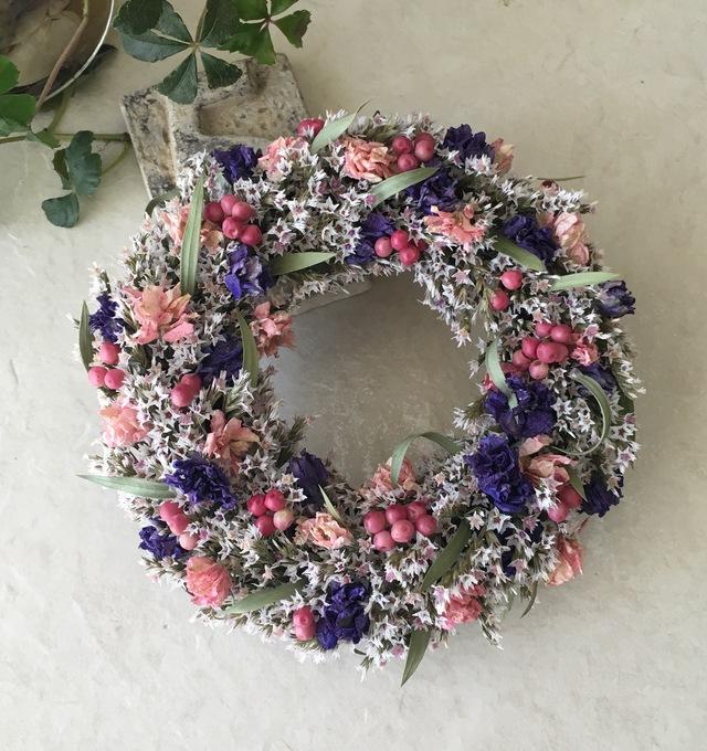 naturel wreath   タタリカとデルフィニュウム
