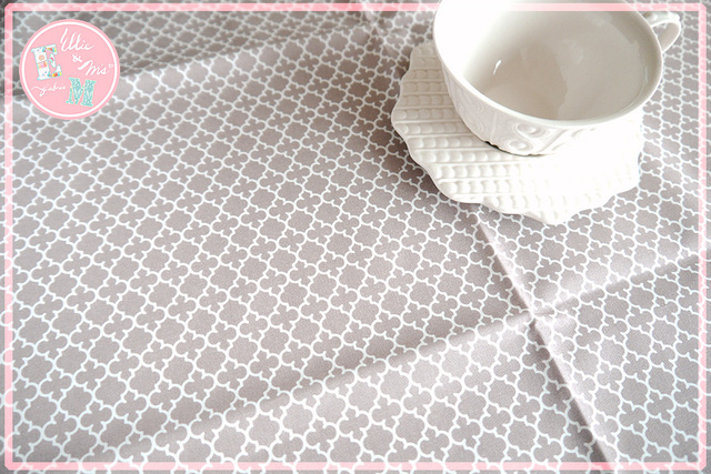 【Ellie&M's fabric】 GR モロッカン柄 コットン生地 50×50