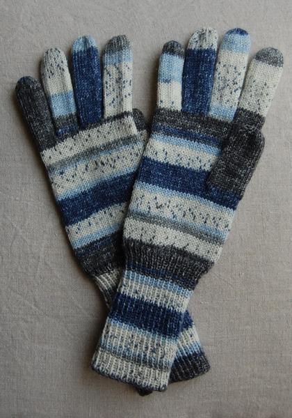 手編み5本指手袋 No.21