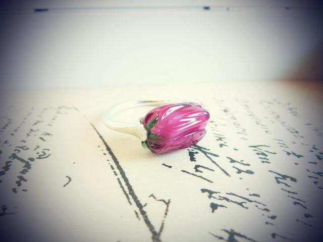 【FT】薔薇のつぼみリング(ローズ×銀)