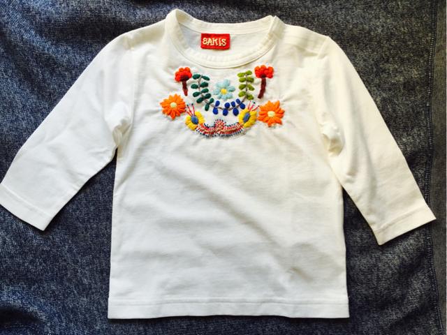 メキシコ刺繍 KIDS Tshirt 80?