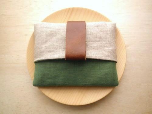 �ݥ��åȥƥ��å��奱���� ( green & beige )
