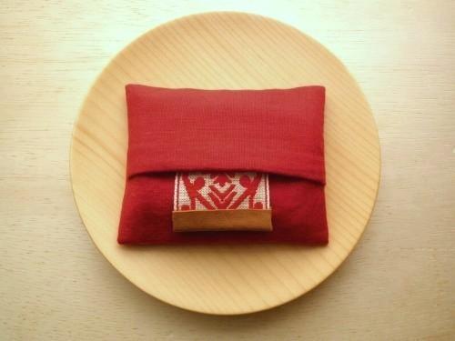 ミニポケットティッシュケース ( red )