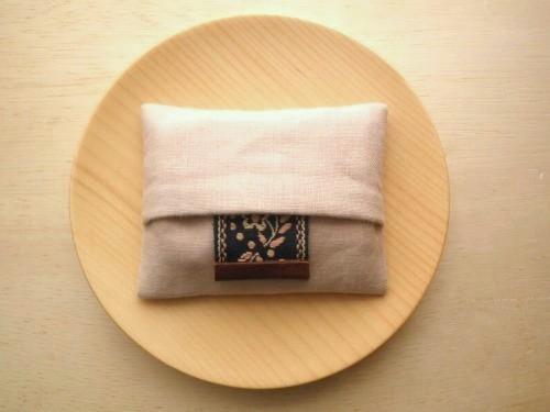 ミニポケットティッシュケース ( pink beige )