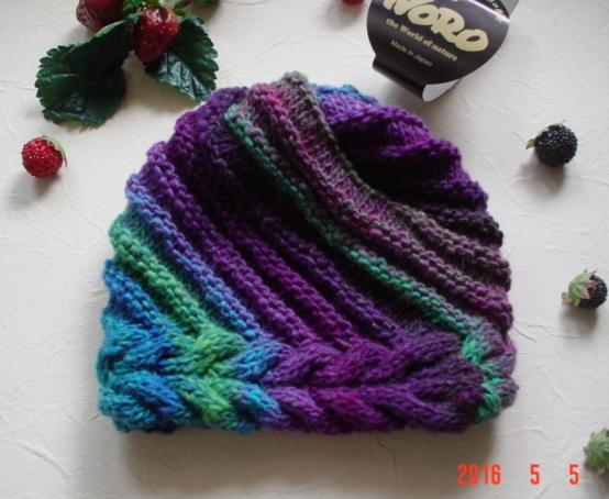 ☆彡野呂英作くれおぱとら毛糸のknit帽(レディースサイズ)