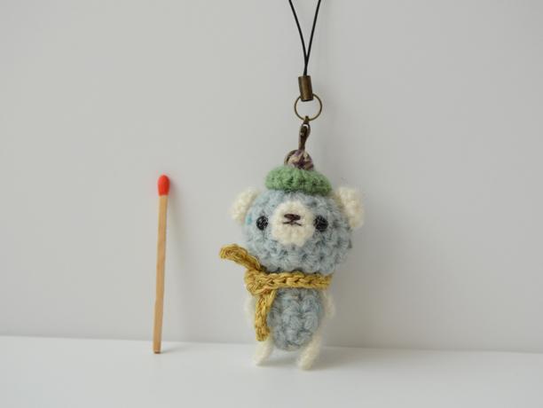 あみぐるみストラップ|blue bear strap!