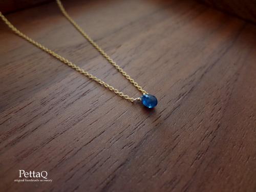 【14KGF】ブルーサファイアのネックレス