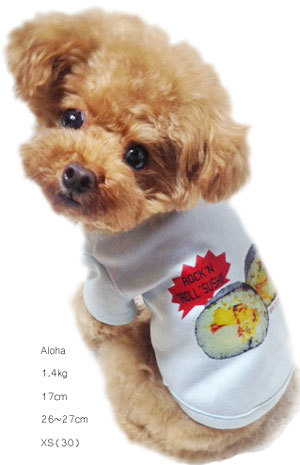 Junk food T-shirts(dog4S~Sブルー)