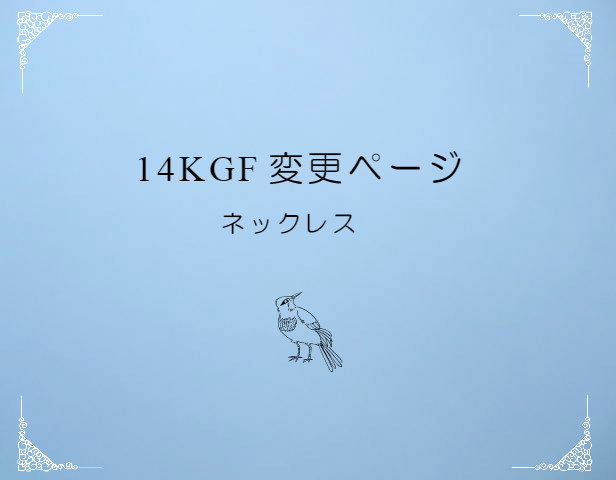 14kgf 変更ページ ネックレス