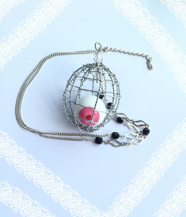 鳥かごの目玉(大) ピンクアイ