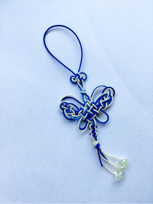 二重蝶と小花(ピンあり)