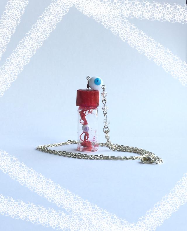 小びんの目玉 パープル&ブルー