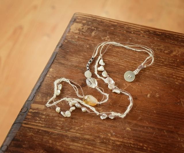 【金属フリー】シトリンのネックレス
