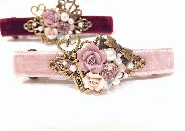 いばら姫の髪飾り ピンク