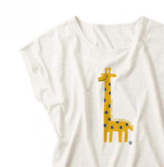 【注意!薄手生地】giraffe☆キリン ドルマンTシャツ【受注生産品】