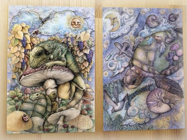 ポストカード2枚セット 『爬虫類』