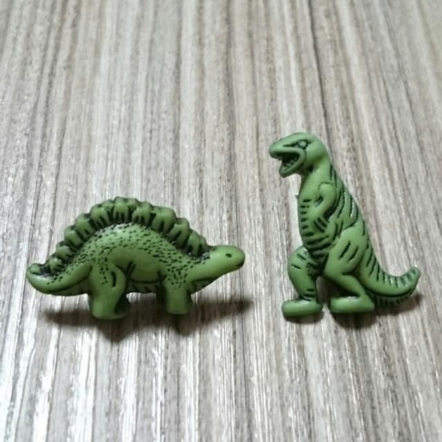 ガオー!恐竜さんのピアス(グリーン)