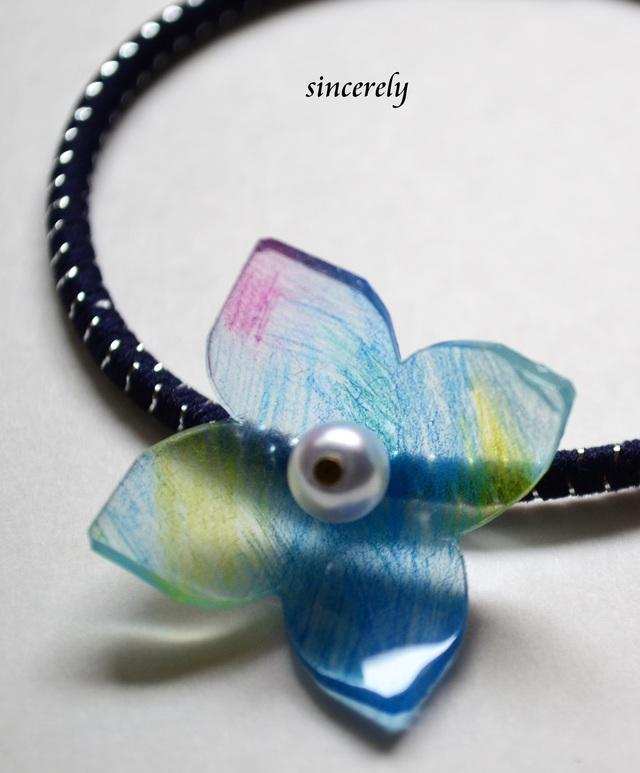 カラフル紫陽花ヘアゴム