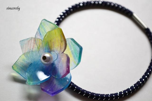 八重紫陽花のヘアゴム