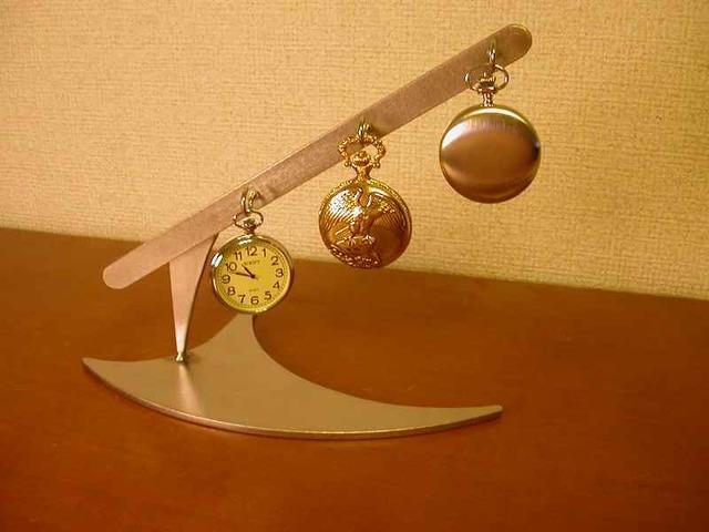 懐中時計収納 3本掛け懐中時計ディスプレイスタンド[