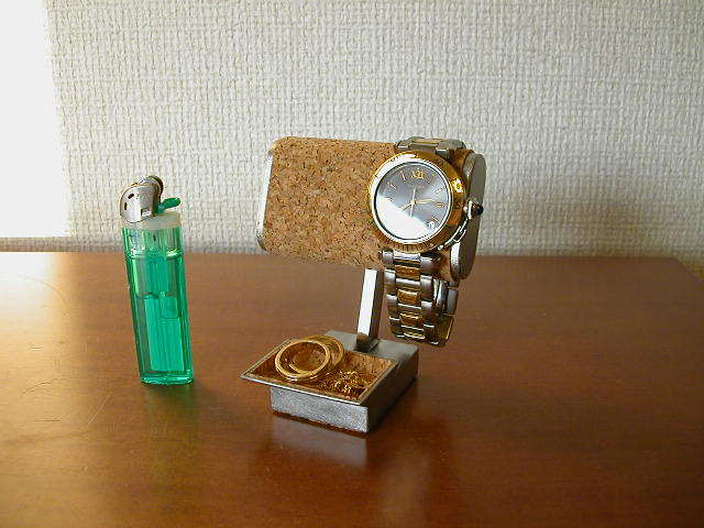腕時計スタンド 小さいトレイ付き腕時計スタンド