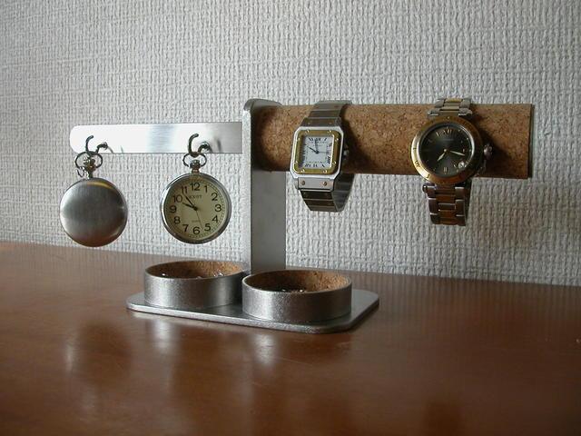 \t 時計 懐中時計 スタンド ダブル腕時計、ダブル懐中時計丸トレイスタンド