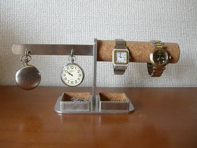 時計 懐中時計 スタンド ダブル腕時計、ダブル懐中時計角トレイスタンド