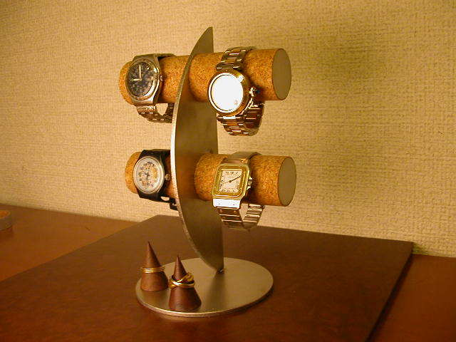 三日月腕時計ディスプレイスタンド!指輪スタンド付き