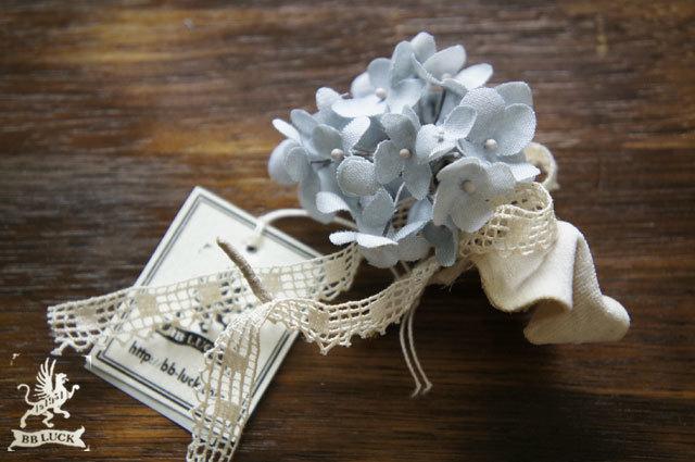 corsage【 紫陽花のコサージュ * blue 】